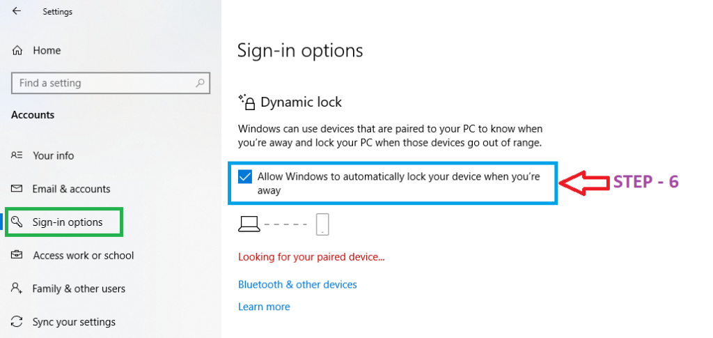 what is dynamic lock in windows 10